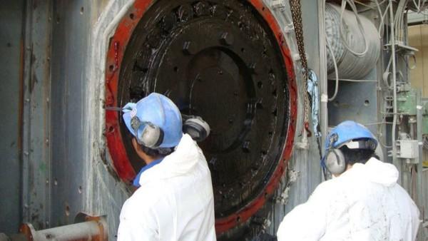 Instandhaltungsarbeiten an der Hochdruckmahlwalze (HPGR)