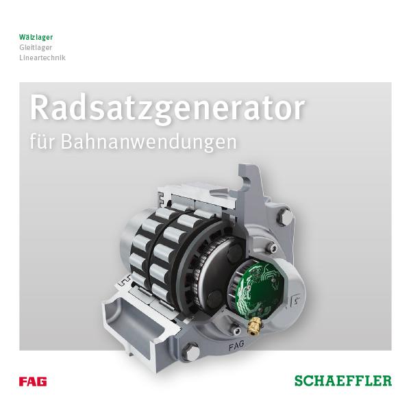 Radsatzgenerator für Bahnanwendungen