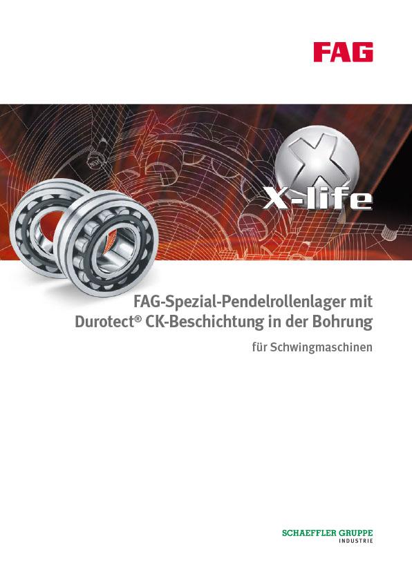 FAG Spezial-Pendelrollenlager mit Durotect CK-Beschichtung in der Bohrung