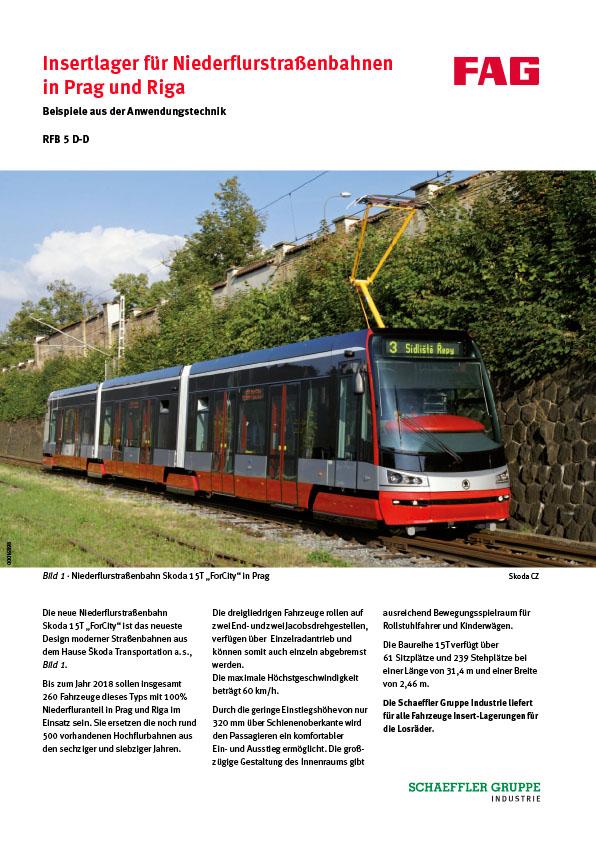 Insertlager für Niederflurstraßenbahnen in Prag und Riga
