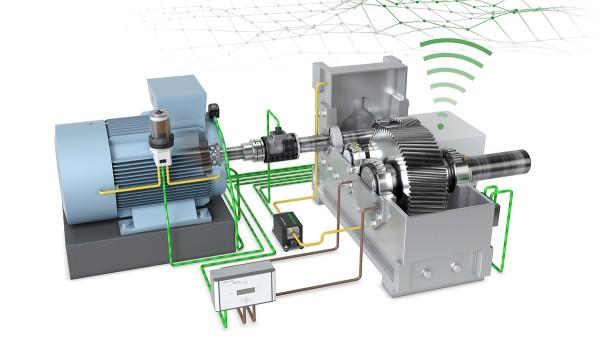 """Der Technologiedemonstrator """"Antriebsstrang 4.0"""" von Schaeffler zeigt Lösungen für die digitalisierte Produktion und Maschinenüberwachung."""