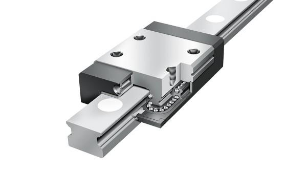 Schaeffler Linearführungen:  Vierreihige Miniatur-Kugelumlaufeinheiten
