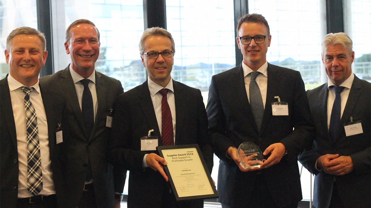 """Schaeffler erhält Award """"Best Support to Profitable Growth"""" von Vestas"""